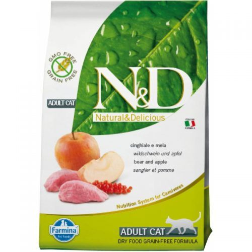 Farmina ND gato Grain Free jabali y manzana