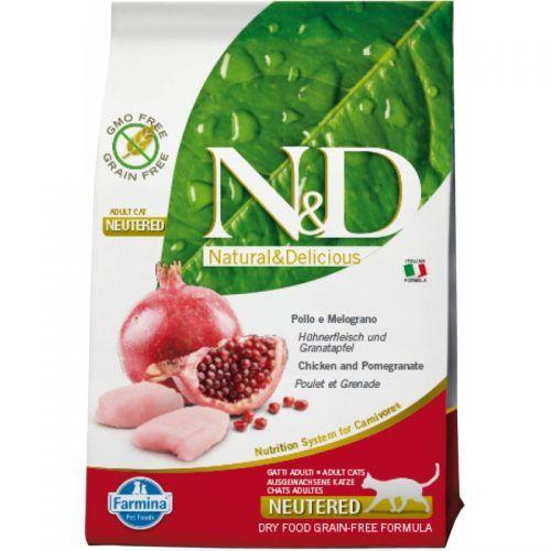Farmina ND gato Grain Free neutered pollo y granada