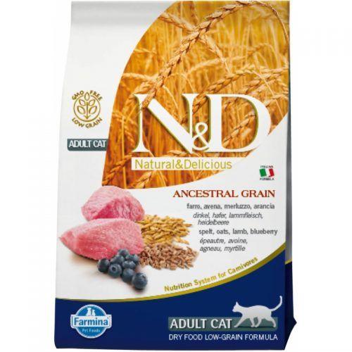 Farmina ND gato Low Grain cordero y arandano