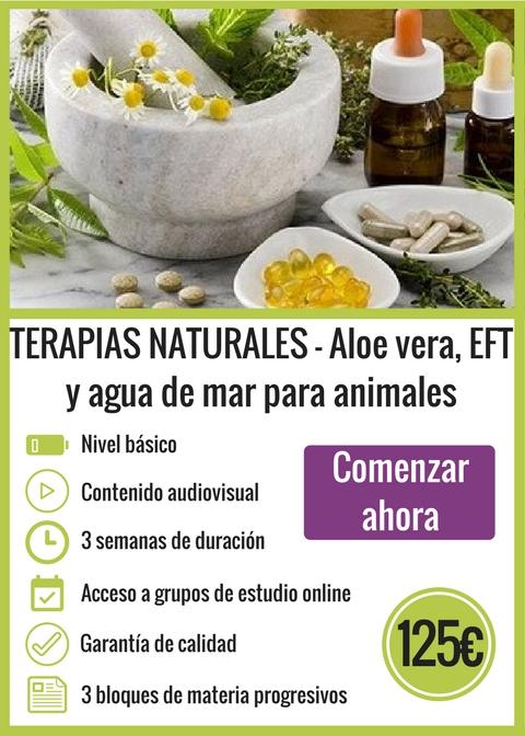 Terapias Naturales - Aloe vera, EFT y agua de mar para animales